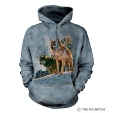 Wolf Couple Sunset Unisex Hoodie | The Mountain | 725938 | Wolf Sweatshirt