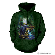 Black Bear Forest Unisex Hoodie | The Mountain | 726164 | Black Bear Sweatshirt