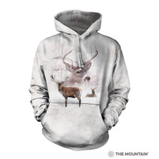 Wintertime Deer Unisex Hoodie | The Mountain | 726392 | Deer Sweatshirt