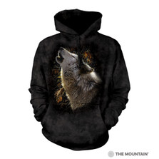Song of Autumn Wolf Unisex Hoodie | The Mountain | 726281 | Wolf Sweatshirt