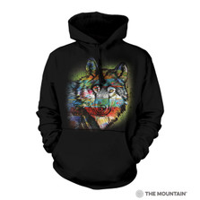 Painted Wolf Unisex Hoodie | The Mountain | 7263200100 | Wolf Sweatshirt