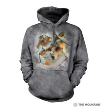 Hide and Seek Red Fox Unisex Hoodie | The Mountain | 726393 | Fox Sweatshirt