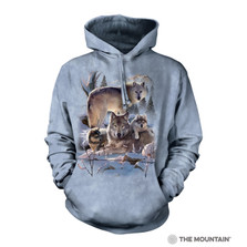 Wolf Family Mountain Unisex Hoodie | The Mountain | 726283 | Wolf Sweatshirt