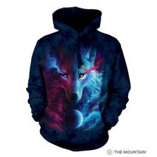 Where Light and Dark Meet Wolf Unisex Hoodie | The Mountain | 724963 | Wolf Sweatshirt