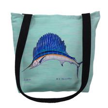 Sailfish Aqua Tote Bag | Betsy Drake | TY006CM