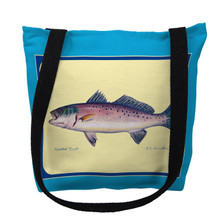 Speckled Trout Blue Tote Bag | Betsy Drake | TY007BM