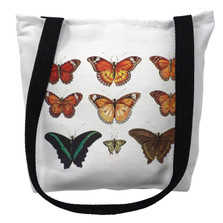 Orange Butterflies Tote Bag | Betsy Drake | TY026APM