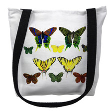 Green Butterflies Tote Bag | Betsy Drake | TY028APM