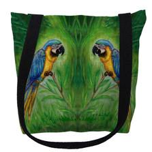 Blue Macaws Tote Bag | Betsy Drake | TY032M
