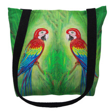 Red Macaws Tote Bag | Betsy Drake | TY033M