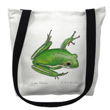 Green Tree Frog Tote Bag | Betsy Drake | TY040M