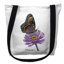 Red Spotted Purple Butterfly Tote Bag | Betsy Drake | TY049M