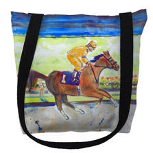 Racing Horse Gold Tote Bag | Betsy Drake | TY055BM
