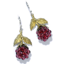 Raspberry Wire Drop Earrings | Michael Michaud Jewelry | SS4088bzgn