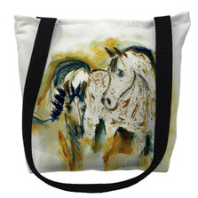 Mare and Colt Horses Tote Bag | Betsy Drake | TY058M