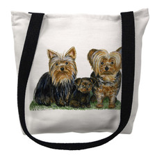 Yorkie Dogs Tote Bag | Betsy Drake | TY068M
