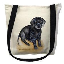 Black Lab Puppy Tote Bag | Betsy Drake | TY069M