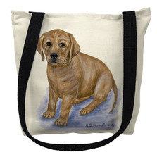 Yellow Lab Puppy Tote Bag | Betsy Drake | TY070M