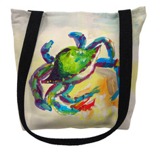 Teal Crab Tote Bag | Betsy Drake | TY267M