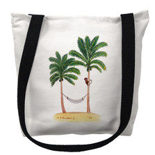 Palm Trees and Monkey Tote Bag | Betsy Drake | TY085M