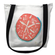 Coral Sand Dollar Tote Bag   Betsy Drake   TY092M