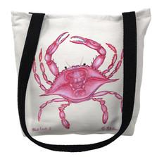 Pink Crab Tote Bag | Betsy Drake | TY102M