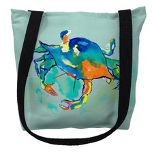 Orange Crab Aqua Tote Bag | Betsy Drake | TY107M