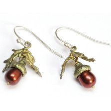 Acorn and Leaf Wire Earrings | Michael Michaud Jewelry | SS4106BZBP