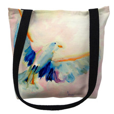 Flying Watercolor Seagull Tote Bag | Betsy Drake | TY135M