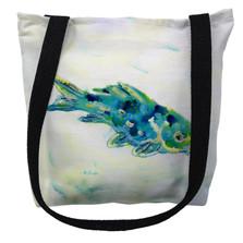 Blue Koi Fish Tote Bag | Betsy Drake | TY136M