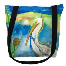 White Pelican Tote Bag   Betsy Drake   TY138M