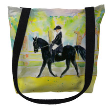 Black Horse and Rider Tote Bag | Betsy Drake | TY141M