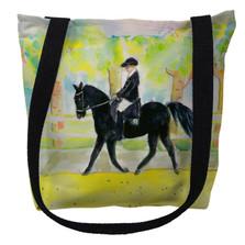 Black Horse and Rider Tote Bag | Betsy Drake | TY141M