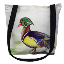 Male Wood Duck Tote Bag | Betsy Drake | TY145M