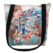 Seagulls Flocking Tote Bag | Betsy Drake | TY153M