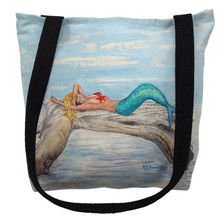 Mermaid on Log Tote Bag | Betsy Drake | TY155M
