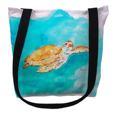 Brown Sea Turtle Tote Bag | Betsy Drake | TY156M