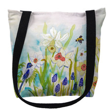 Bird and Daffodils Tote Bag | Betsy Drake | TY167M