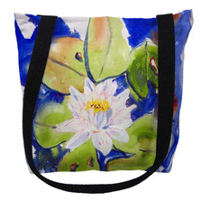 Lily Pad Flower Tote Bag | Betsy Drake | TY171M