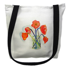 Poppies in Vase Tote Bag | Betsy Drake | TY191M