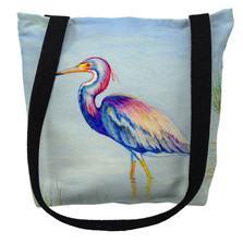 Tri-Colored Heron Tote Bag | Betsy Drake | TY756M