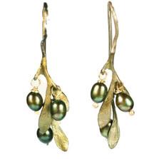 Olive Drop Wire Earrings   Michael Michaud Jewelry   SS4188BZOP