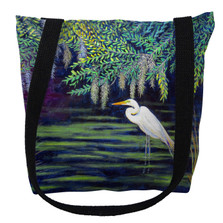 Egret Lagoon Tote Bag | Betsy Drake | TY751M
