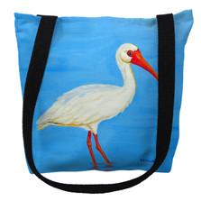 Posing White Ibis Tote Bag | Betsy Drake | TY1086M