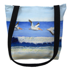 Pelicans Skimming the Surf Tote Bag | Betsy Drake | TY1076M