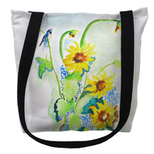 Sunflower and Bird Tote Bag | Betsy Drake | TY1049M