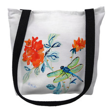 Dragonfly and Red Flowers Tote Bag | Betsy Drake | TY1046M