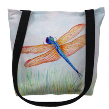 Amber and Blue Dragonfly Tote Bag | Betsy Drake | TY1045M