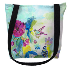 Hummingbird and Garden Tote Bag | Betsy Drake | TY1042M