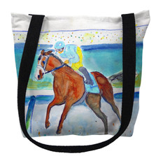 Racehorse Front Runner Tote Bag   Betsy Drake   TY1035M